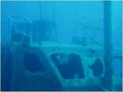 Underwater pic of gunboat bridge as it is now!