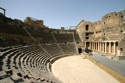 The free-standing Roman theatre made from Basalt
