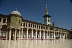 The impressive mosque in Damascus