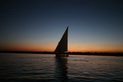 A nice night for a float in a Felucca..!