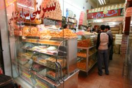 Kashan Bazaar sweet shop