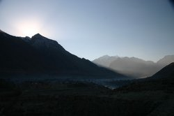 The sun doesn't get much higher at this time of year at Gilgit
