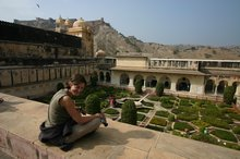 Maz taking in the views in amber palace