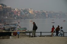 Alex taking in the sites and smalls of Varanasi Ghats