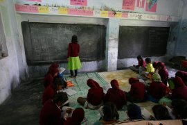 Maths lesson at Udaan residential school
