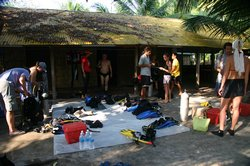 Divers getting ready in the morning