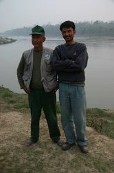 Our guides Raj & Deepak, check out the sturdy footwear