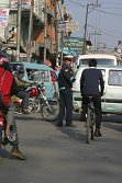 Normal Kathmandu traffic mayhem