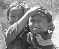 Nepalese Children having fun