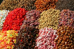 Market Stall of strange dried fruits