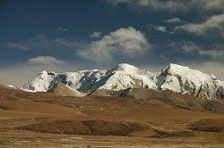 The Mountains surrounding Namtso Lake
