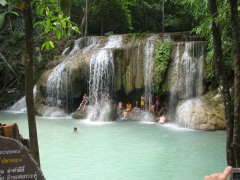 Erawan Falls (thanks to Rachel for the photo)