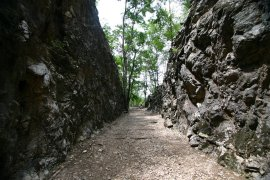 The railway cutting known as Hellfire Pass