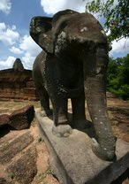 The majestic elephants look out from each corner of Eastern Mebon