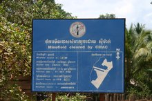 Mine clearance activity is evident everywhere