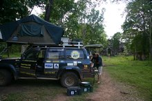 The correct place to camp at Preah Khan