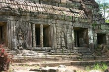 One of the decorated outer buildings at Preah Khan