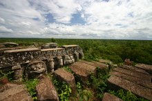Jungle as far as the eye can see on top of Prasat Thom