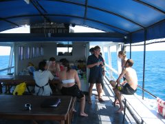 Out on the dive boat with Big Blue Diving
