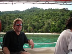 Me on the boat to the Perhentian Islands