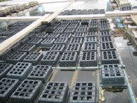 The boxes where the crabs are kept until they go to the market