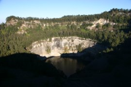 The black lake at Kelimutu