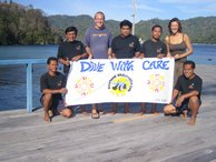 The KBR dive centre staff pose for their picture