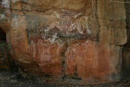 Aboriginal art at Nourlangie Rock