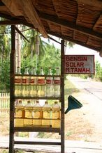 The village petrol stn - thankfully we had leftovers from our fill in Palu