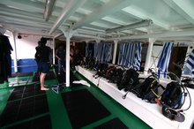 Ample space on the dive deck