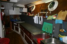 Most important cabin on the boat.. The galley