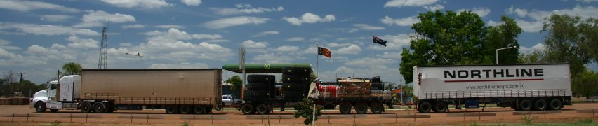 Road train - all this is one vehicle!
