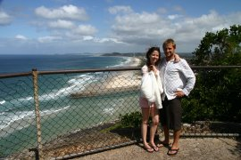 Holly and James at Burleigh Heads