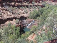 Fortescue Falls - from the top.