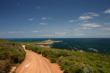 The road to Cape Leeuwin lighthouse
