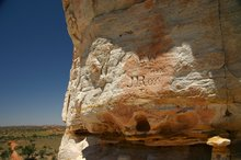 Early graffiti as explorers leave their mark