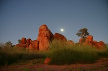 Devil's Marbles at dusk